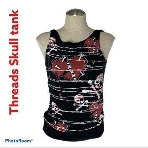Threads Skull Tank Size S